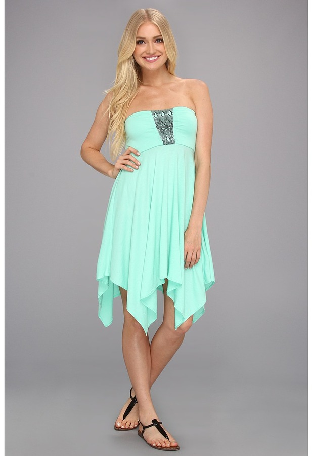 Roxy Summer Bliss Dress (Cabbage) - Apparel