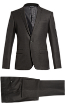 Dolce & Gabbana Martini-fit wool and silk-blend suit