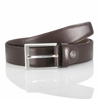 LINDENMANN men's leather belt/men's belt leather belt mogano Groe/Size:95