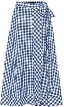 Polo Ralph Lauren Gingham linen wrap midi skirt