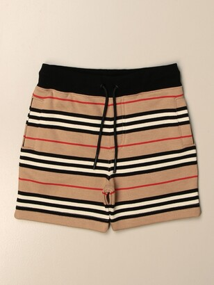 Burberry Shorts In Vintage Striped Cotton