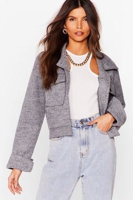 Nasty Gal Womens Go Undercover Cropped Jacket - Black - 4, Black