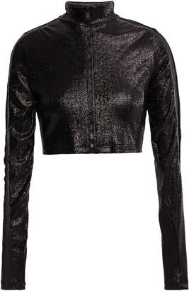 Paco Rabanne Cropped Metallic Stretch-jersey Jacket