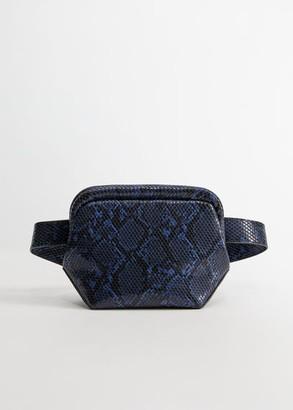 MANGO Violeta BY Chain crossbody belt bag petrol blue - One size - Plus sizes