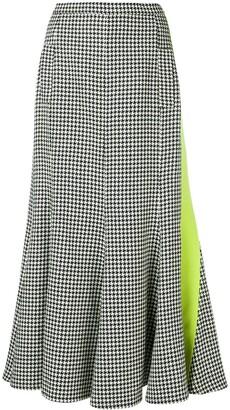Natasha Zinko Houndstooth Patterned Pleated Skirt