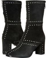 Just Cavalli Studded Suede/Leather Bootie Women's Zip Boots