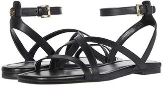 MICHAEL Michael Kors Tasha Flat Sandal (Black) Women's Shoes