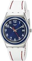 Swatch Women's YLS449 Irony Analog Display Swiss Quartz White Watch