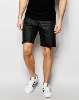 Asos Slim Chino Shorts With Coating