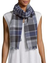 Saks Fifth Avenue Reversible Check Merino Wool Scarf