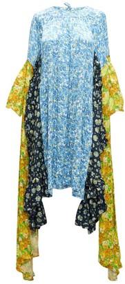 Vetements Panelled Floral-print Satin-jacquard Dress - Multi