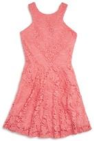 Aqua Girls' Lace Skater Dress , Sizes S-XL - 100% Exclusive