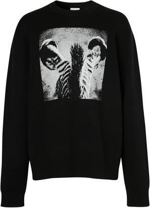 Burberry Zebra jacquard jumper