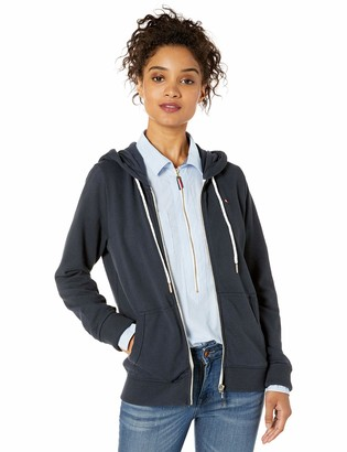 Tommy Hilfiger Women's French Terry Zip Hoodie-Solid
