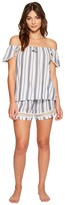 Lucky Brand Woven Shorty Set Women's Pajama Sets