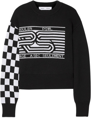 Proenza Schouler Pswl Wool-blend Jacquard Sweater