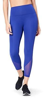 Core 10 Women's High Waist Mesh 7/8 Crop Running Tights, Blue (), Small