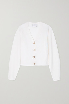 3.1 Phillip Lim Ribbed Wool-blend Cardigan - White