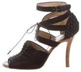 Proenza Schouler Canvas Lace-Up Sandals