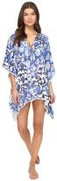 Bindya Pom Pom Print Lace-Up Dress
