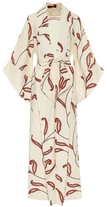 Johanna Ortiz Soul Quest floral linen dress