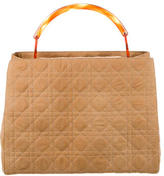 Christian Dior Cannage Quilted Nylon Handle Bag