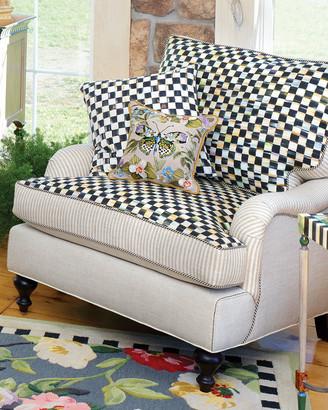 Mackenzie Childs Underpinnings Striped/Checks Lounge Chair