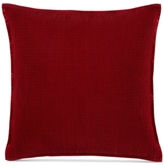 Hotel Collection Woven Texture Red European Sham