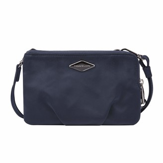 Travelon Double Zip Crossbody Clutch