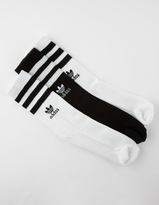 adidas 3 Pack Roller Womens Crew Socks