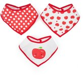 GOGO Baby Bandana Drool Bibs With Snaps, 3-Pack Double Layer Waterproof Bibs