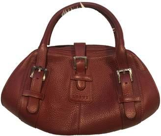 Loewe Buckle Tote Red Leather Handbags