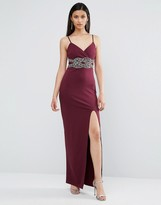 TFNC Embellished Detail Strappy Maxi Dress