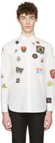 Alexander McQueen White Badges Shirt