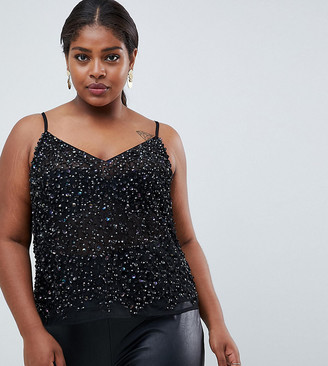 ASOS DESIGN Curve cami top with sequin embellishment