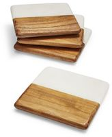Sur La Table Marble and Wood Coasters, Set of 4