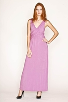 NU Collective Grecian Maxi Dress in Concord Purple