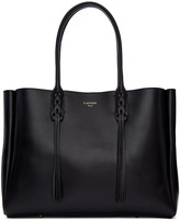 Lanvin Black Leather Small Shopper Bag