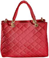 Collezione Alessandro Quilted Suede Bag