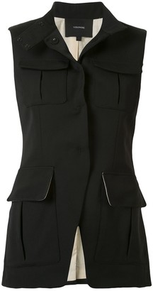 Vera Wang Flap-Pocket Waistcoat
