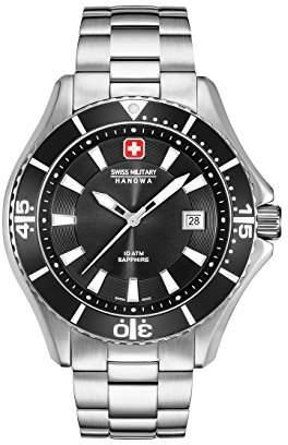 Swiss Military Hanowa Mens Analogue Quartz Watch with Stainless Steel Strap 06-5296.04.007