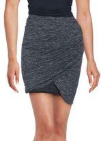 SET Linen Blend Ruched Skirt