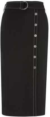 Mint Velvet Black Belted Pencil Skirt