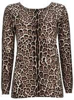 Wallis Petite Neutral Animal Print Jumper