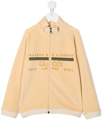 Gucci Kids Velour Track Top