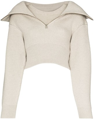 Jacquemus Risoul zip-up merino jumper