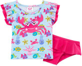 Asstd National Brand Solid Rash Guard Set - Toddler