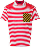 Prada striped chest pocket T-shirt