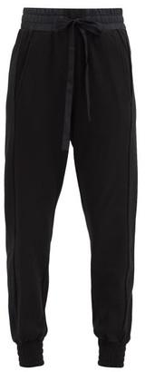 Ann Demeulemeester Poplin-trimmed Jersey Track Pants - Black