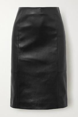Salvatore Ferragamo Leather Skirt - Black